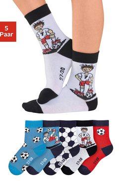 h.i.s sokken met voetbalmotieven (5 paar) multicolor