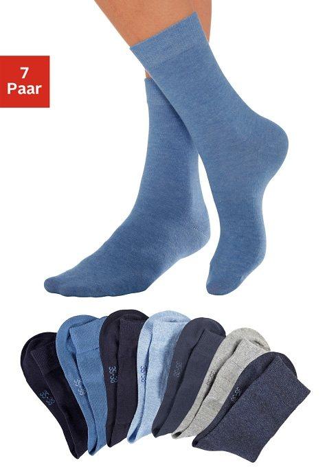 LAVANA Basic sokken in set van 7 paar