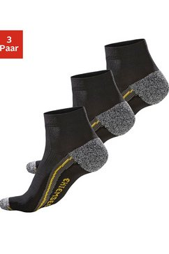 chiemsee korte hiking-sokken in set van 3 paar zwart