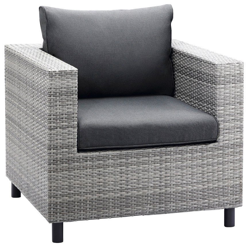 Rotan Lounge Stoel : Best loungestoel bonaire« poly rotan incl kussens grijs