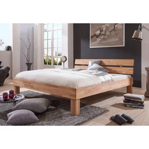 RELITA Bed van massief beuken beige Relita 423751