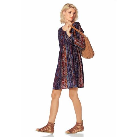 Picture LAURA SCOTT Gedessineerde jurk met V-hals multicolor 676313