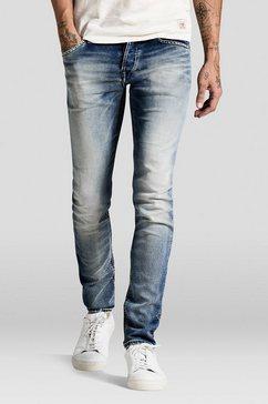 Glenn Indigo Gebreide Slim fit jeans