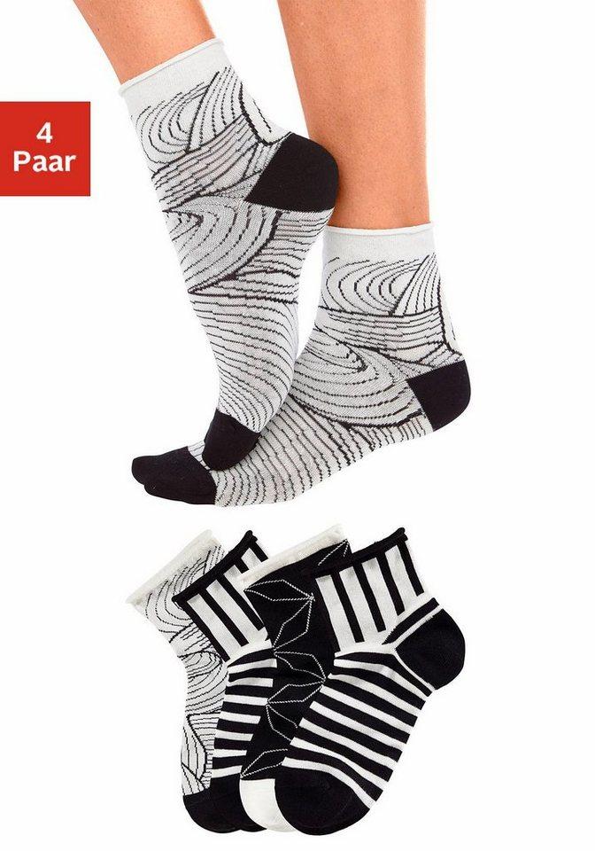 TOM TAILOR Korte sokken in set van 4 paar