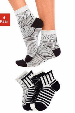 tom tailor korte sokken met knelvrije boord (4 paar) zwart