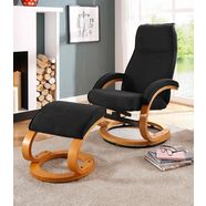 home affaire relaxfauteuil  hocker »paris« zwart