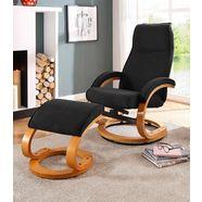 home affaire relaxfauteuil paris in verschillende bekleding- en kleurvarianten, zithoogte 46 cm (2-delig) zwart