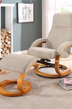 home affaire relaxfauteuil paris in verschillende bekleding- en kleurvarianten, zithoogte 46 cm (2 stuks) beige