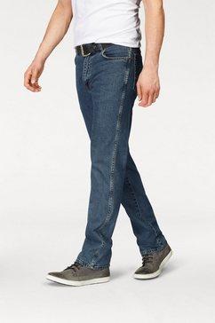 regular jeans, wrangler, stretch blauw