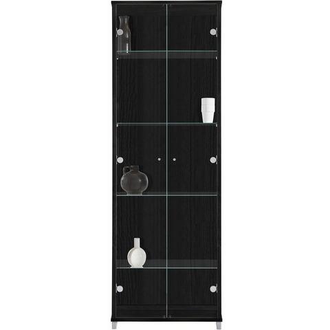 Kasten  vitrinekasten Vitrinekast 2-deurs met 4 glasplateaus 409107