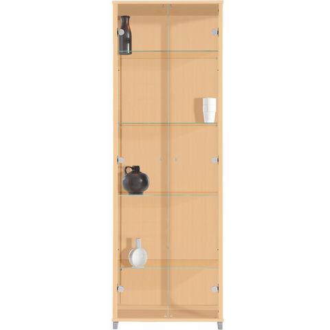 Kasten  vitrinekasten Vitrinekast 2-deurs met 4 glasplateaus 497077