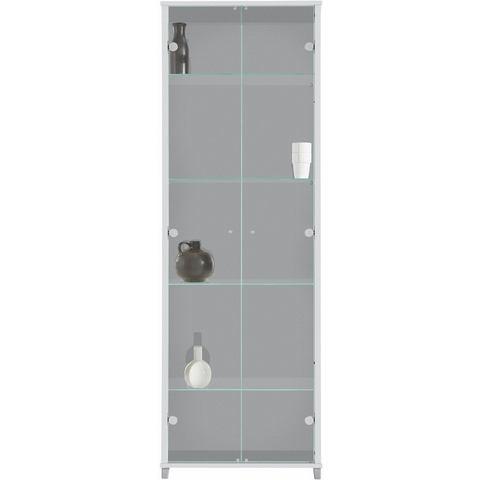 Vitrinekast 2-deurs met 4 glasplateaus