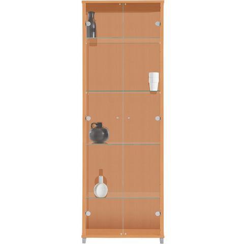 Kasten  vitrinekasten Vitrinekast 2-deurs met 4 glasplateaus 775945