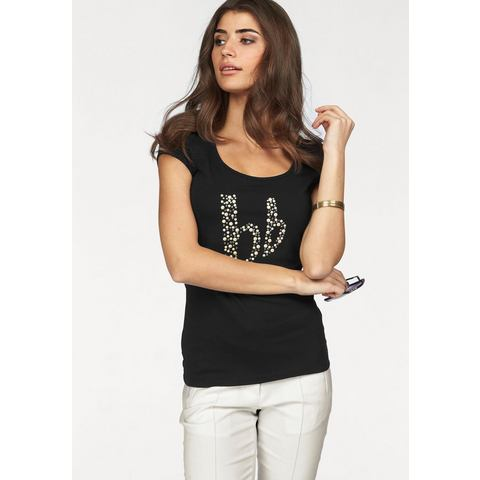 BRUNO BANANI T-shirt met kralenlogo