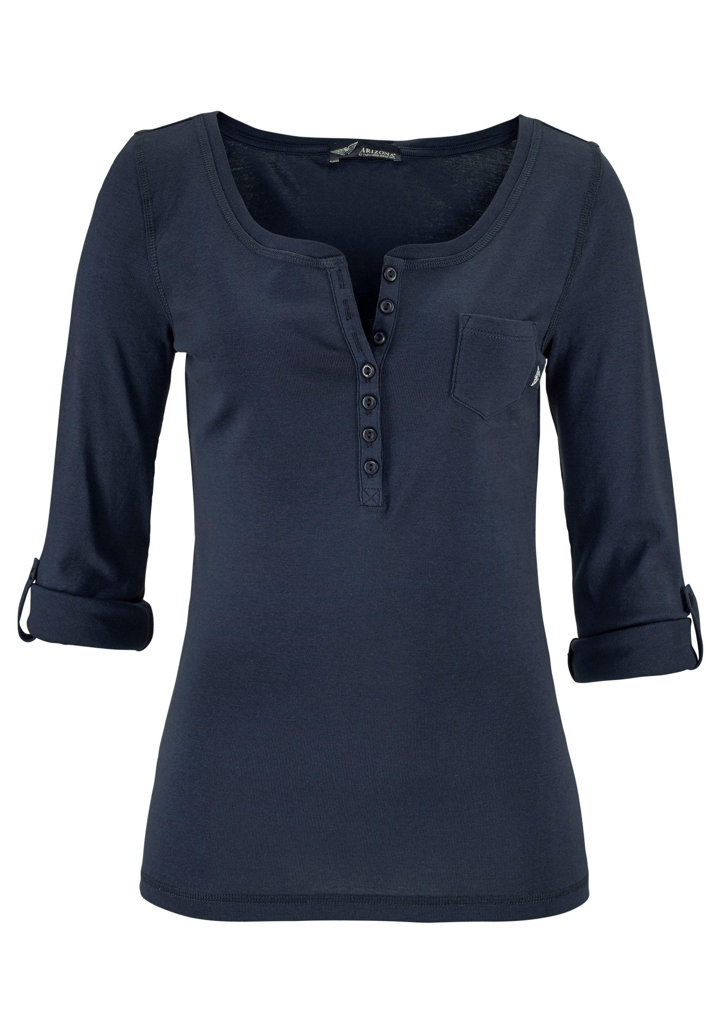 244b0361cc2248 ARIZONA Shirt met lange mouwen en knoopsluiting nu online kopen | OTTO