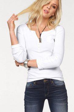 arizona shirt met lange mouwen en knoopsluiting wit
