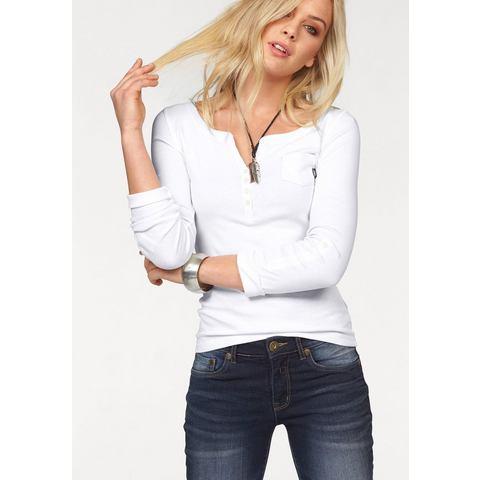 ARIZONA Shirt met lange mouwen en knoopsluiting