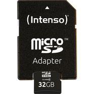 intenso »microsdhc class 10 + sd-adapter« geheugenkaart zwart