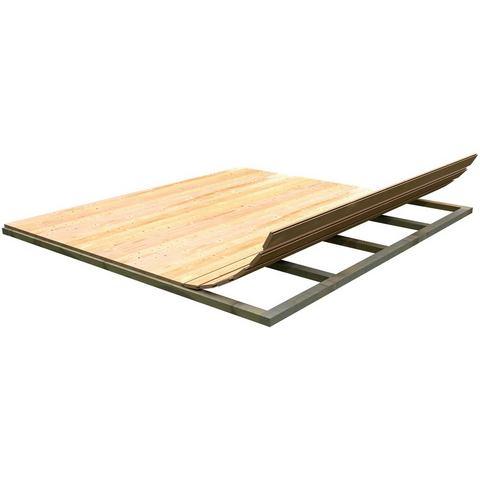 KARIBU Vloer voor tuinhuizen Bxd: 280 x 280 cm