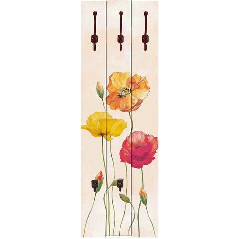 HOME AFFAIRE kapstok, Jule: veelkleurige klaprozen, 45x140 cm