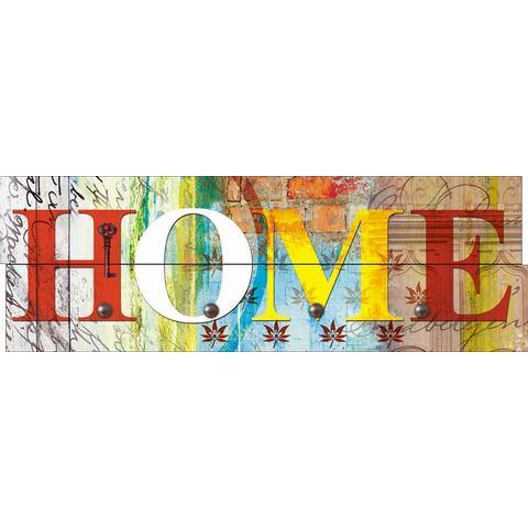 HOME AFFAIRE kapstok, Jule: Home, in verschillende kleuren, 90x30 cm