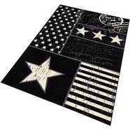 vloerkleed, hanse home, »patchwork stars«, geweven zwart