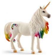schleich speelfiguur 'world of fantasy bayala - regenboogeenhoorn, merrie, 70524' multicolor