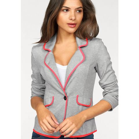 AJC Sweatblazer met piping in neonkleur