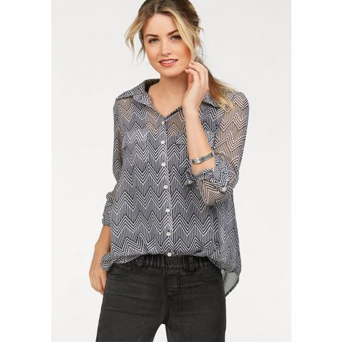 AJC Chiffon-blouse met allover-print