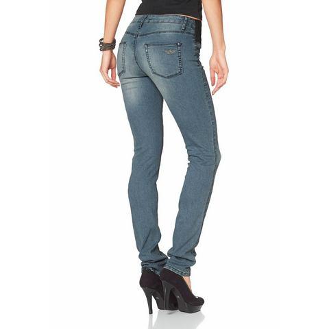 ARIZONA Skinny-jeans met logoborduursel