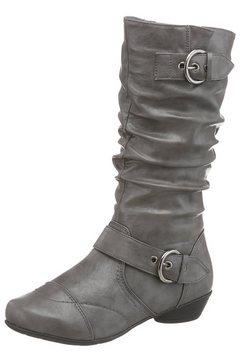 city walk laarzen met dekzool van textiel grijs
