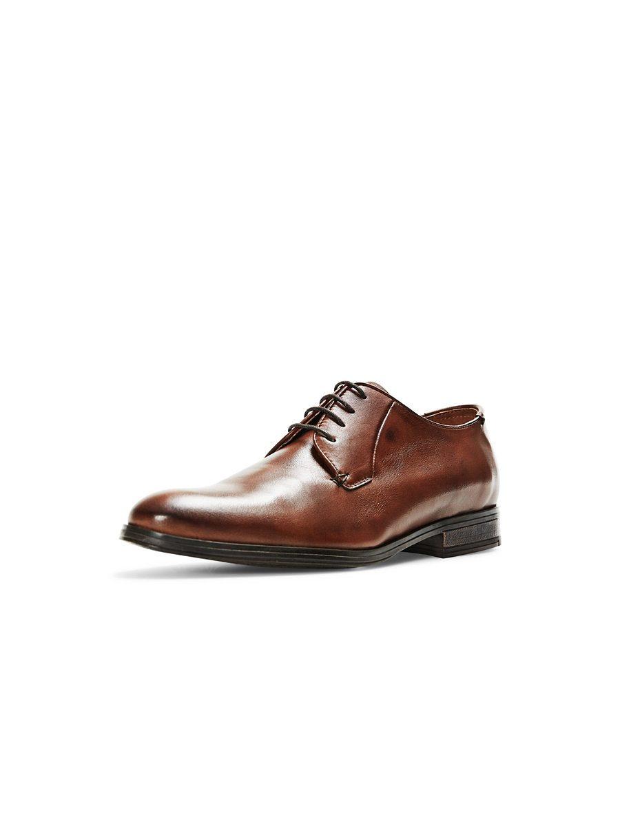 Chaussures En Cuir Marron Hommes Jack & Jones f89Hppl