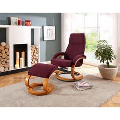 home affaire relaxfauteuil  hocker »paris« rood