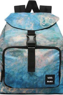 vans »moma claude monet backpack« rugzak blauw