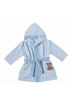 egeria babybadjas teddy bear met borduurwerk (1 stuk) blauw