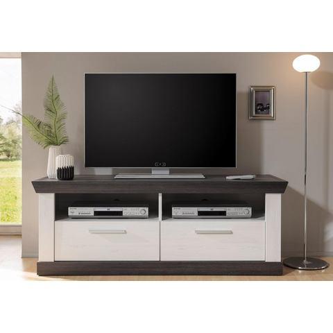 HOME AFFAIRE lowboard Siena breedte 135 cm pine-wit wengékleur TV-kast 235
