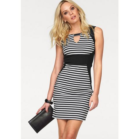 Picture MELROSE Jersey-jurk voor in streep-look wit 318657