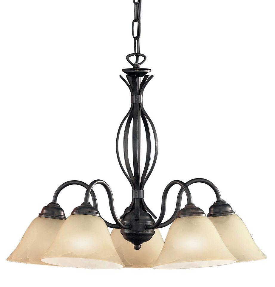 Hanglamp 5 Lampen : Honsel leuchten hanglamp fittingen koloniaal« bestel nu bij