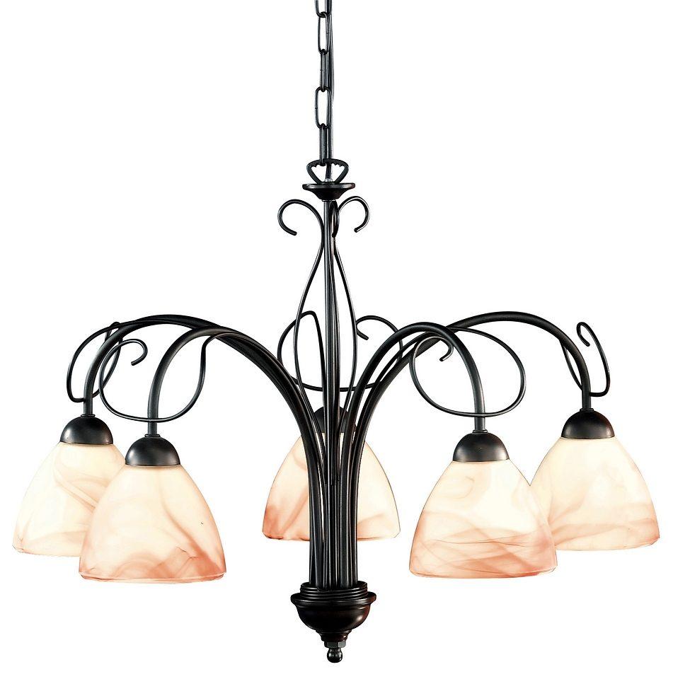 Hanglamp 5 Lampen : Honsel leuchten hanglamp fittingen venezia« online bestellen