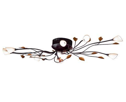 HONSEL LEUCHTEN plafondlamp, 8 fittingen, »Branca«