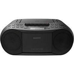 sony boombox cfd-s70 cd, mp-3, cassette zwart