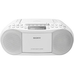 sony boombox cfd-s70 cd, mp-3, cassette wit