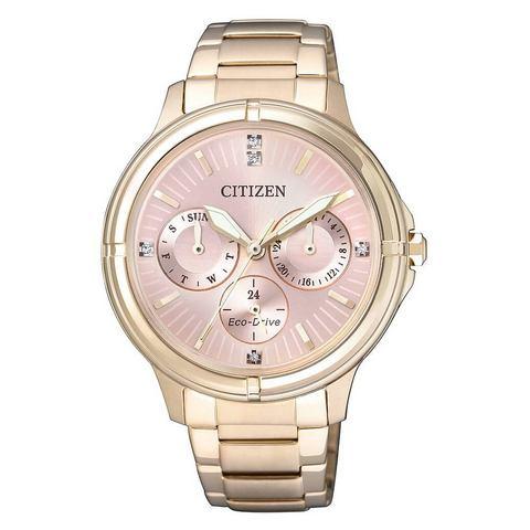 NU 10% KORTING: CITIZEN multifunctioneel horloge met Swarovski-kristallen, »FD2033-52W«