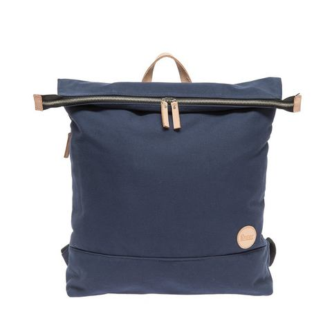 Enter rugzak met laptopvak, Top Zip Backpack, navy/natural