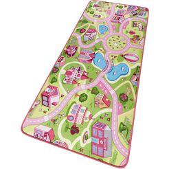 kindervloerkleed, hanse home, »sweettown«, straat, getuft roze