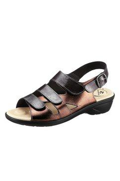 sandaaltjes met 5-zones-voetbed zilver