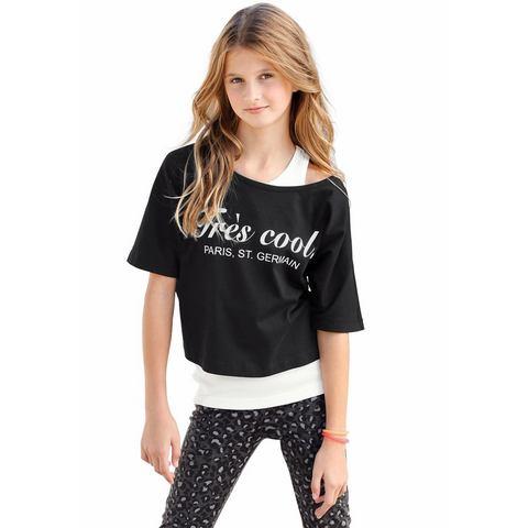 ARIZONA Shirt en top met frontprint voor meisjes