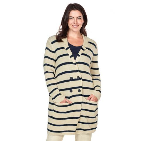 NU 20% KORTING: SHEEGO CASUAL Cardigan in streepdessin