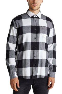edc by esprit overhemd met lange mouwen zwart
