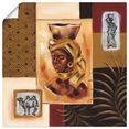 artland artprint uit afrika ii in vele afmetingen  productsoorten -artprint op linnen, poster, muursticker - wandfolie ook geschikt voor de badkamer (1 stuk) bruin